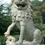Stone chinese lion — Stock Photo #12468248