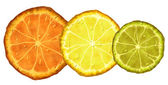 Orange lemon lime — Stock Photo
