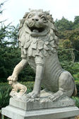 Lion chinois pierre — Photo