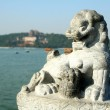 Dragon in a summer palace. Beijing - Stock Photo