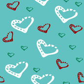Seamless mönster med hjärtan — Stockvektor