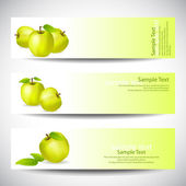 Set of banners with apples — Stock Vector