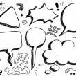 Hand Drawn Speech And Thought Bubbles — Stock Vector #12636330