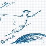 Hand drawn dove — Stock Vector