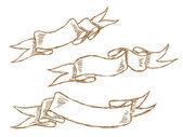 Hand drawn ribbon — Stock Vector