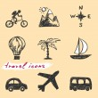 Hand drawn travel icons Vector — Stock Vector #12662001