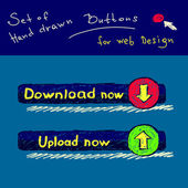 Set of hand drawn buttons Vector — Cтоковый вектор