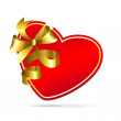 Heart with golden bow Vector — Image vectorielle