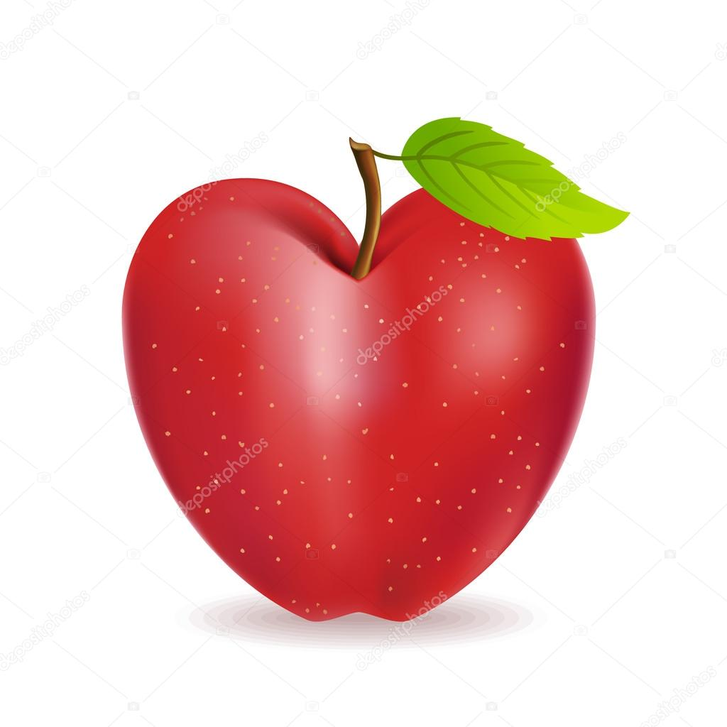 how to cut an apple in to hearts