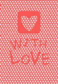 S láskou — Stock vektor