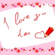 "Card ""i love you too"" — Vector de stock #13275628"