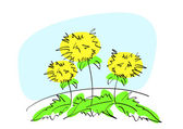 Yellow flower — Vector de stock