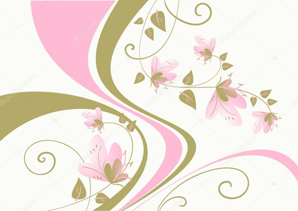 Floral background vector illustration — Stock Vector #13275701