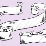 Hand drawn ribbon Vector — Stock Vector