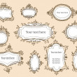 Stock Vector: Hand drawn frames