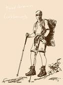 Trekker — Stock Vector