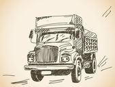 Lorry — Vettoriale Stock