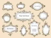 Hand drawn frames — Stockvector