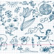 Set of hand drawn doodles — 图库矢量图片