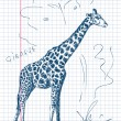 Hand drawn giraffe Vector - Stock Vector