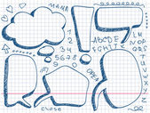 Hand Drawn Speech And Thought Bubbles — Stockvector