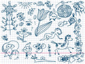 Set of hand drawn doodles — Stockvector