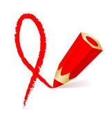 艾滋病功能区和铅笔 — 图库矢量图片