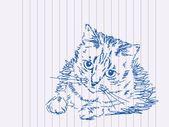 Hand drawn kitty — Stock Vector