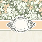 Vintage template with flower background — Stock Vector