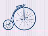 Hand drawn old bicycle — Stock Vector