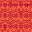 Cross stitch design seamless background — Image vectorielle