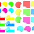 Set of colorful stickers vector - Stock Vector