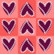 Heart and flower background — Imagen vectorial