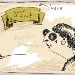 Retro placard Smoking woman Hand drawn — Stock Vector #28889005