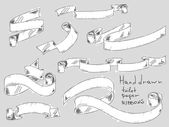 Hand dras toalettpapper band — Stockvektor