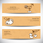 Set of food banners — Stock Vector