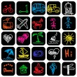 Set of hand drawn travel icons — Stock Vector