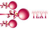 Christmas card with balls — Stock Vector