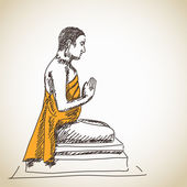 Statua di buddha — Vettoriale Stock