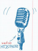 Studio microphone — Stock Vector
