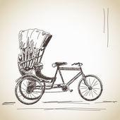 Cykl riksza — Wektor stockowy