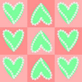 Heart and flower background — Vecteur