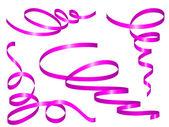 Purple holiday ribbons — Stock Vector