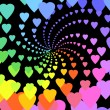 Rainbow hearts — Stock Photo