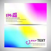 Banner abstract colorful design — Stock Vector