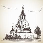 Russisch-orthodoxe kerk — Stockvector