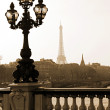 Lamppost on the bridge in Paris — Stock Photo #1803735
