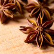 Star Anise on the Wooden Background — Stock Photo