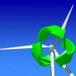 Wind Generator Turbine over Blue Sky. — Stock Photo