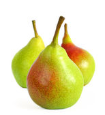 Fresh Ripe Pears Isolated on the White Background — Stock Photo